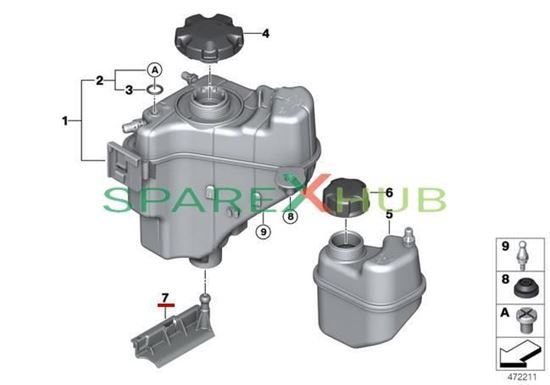 Picture of Bracket, Expansion Tank