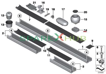 Picture of Adapter, rail