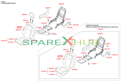 Picture of 0X Cushion Assembly -Front Seat Right