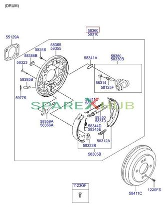 Picture of 0X Brake Assembly -Rr Right Euro Spec 2013