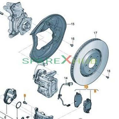 Picture of 1 SET OF BRAKE PADS FOR D
