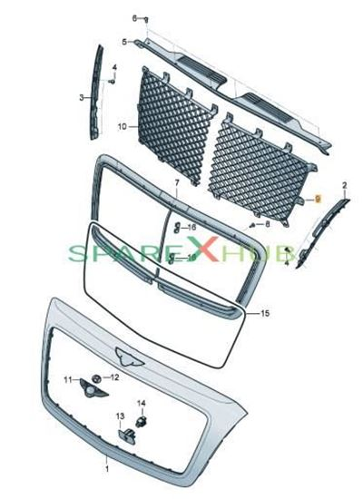 Picture of RADIATOR GRILLE