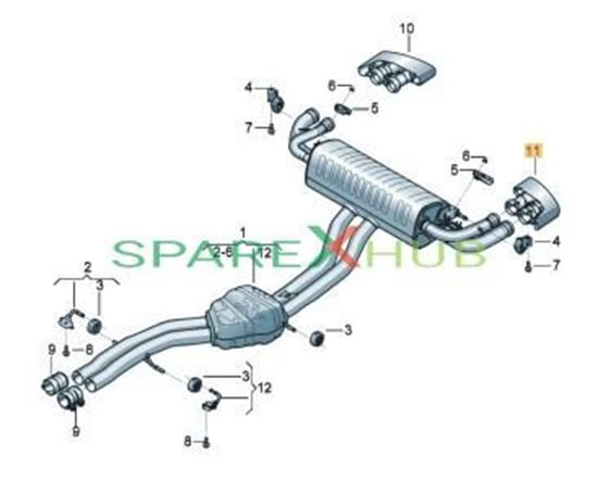 Picture of TRIM FOR EXHAUST TAIL PIP